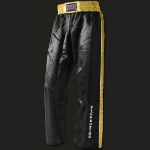 KICK STAR Kickboxing pants black/gold