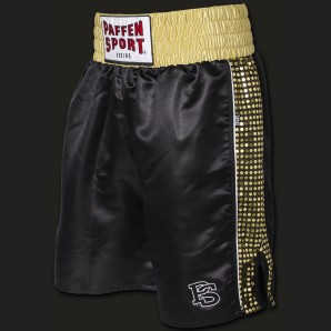PRO GLORY Profi-Boxerhose Schwarz/gold