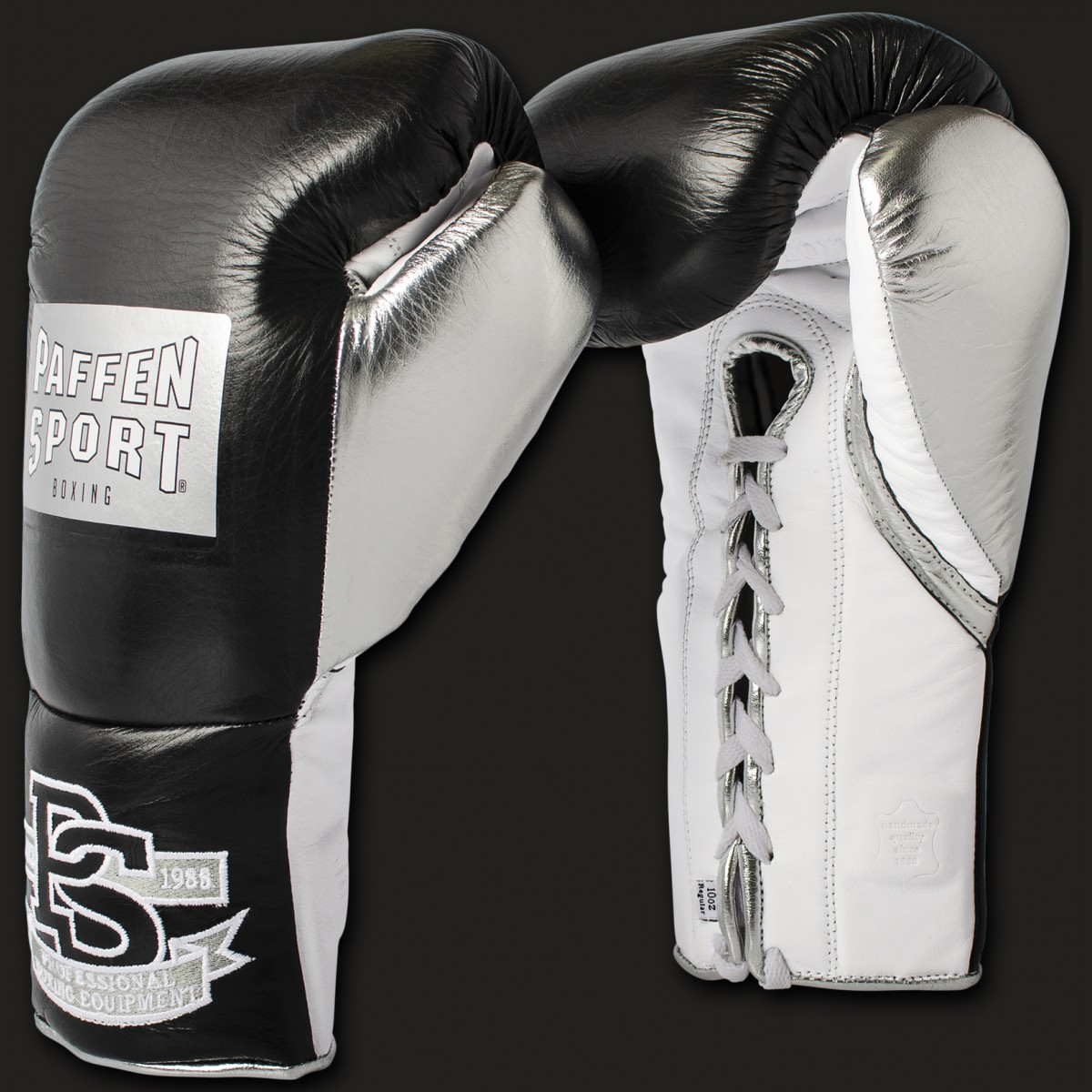 PRO MEXICAN Professional boxing gloves 8oz & 10oz Black/silver