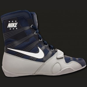 Nike HyperKO boxingboot Midnight Navy/white/metallic silver