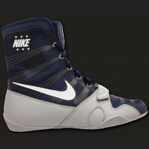 Nike HyperKO Boxschuh Midnight Navy/weiß/metallic silber