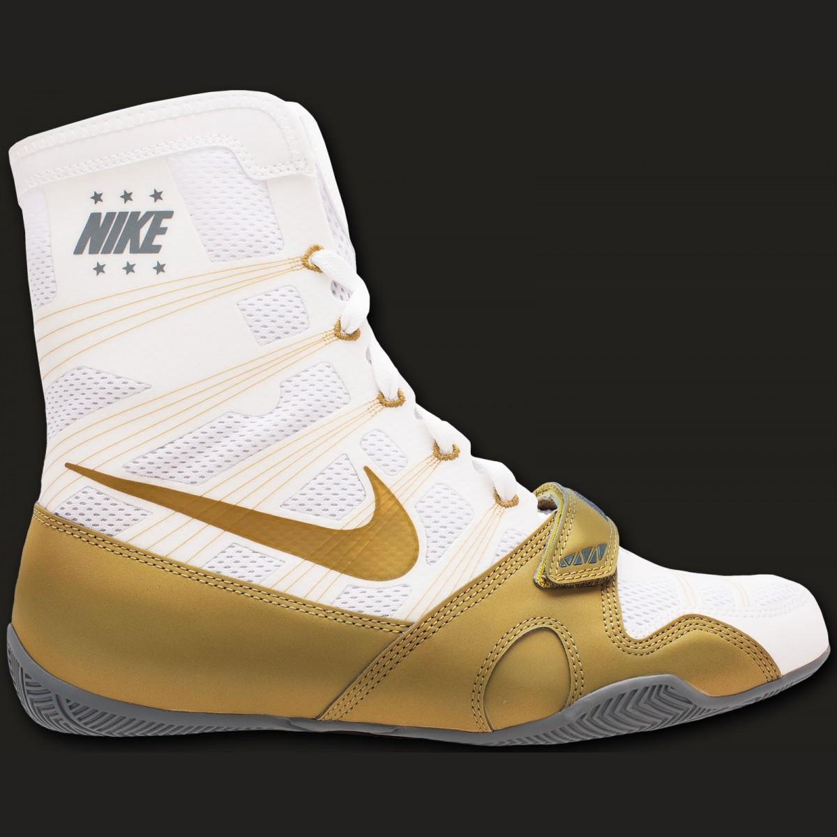 Nike HyperKO Boxschuh Weiß/ metallic gold