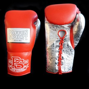 SPECIAL EDITION PRO MEXICAN boxing gloves Red/ Metallic Sprinkled Silver