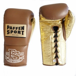 SPECIAL EDITION PRO MEXICAN Boxhandschuhe Braun/ Metallic Sprinkled Gold