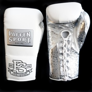 SPECIAL EDITION PRO MEXICAN boxing gloves White/ Metallic Sprinkled Silver