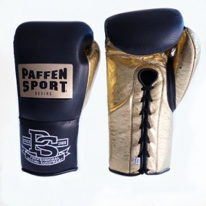 SPECIAL EDITION PRO MEXICAN boxing gloves Black/ Metallic Sprinkled Gold