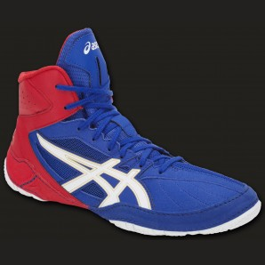 ASICS Cael V8.0 boxing and wrestling shoe Blue/red