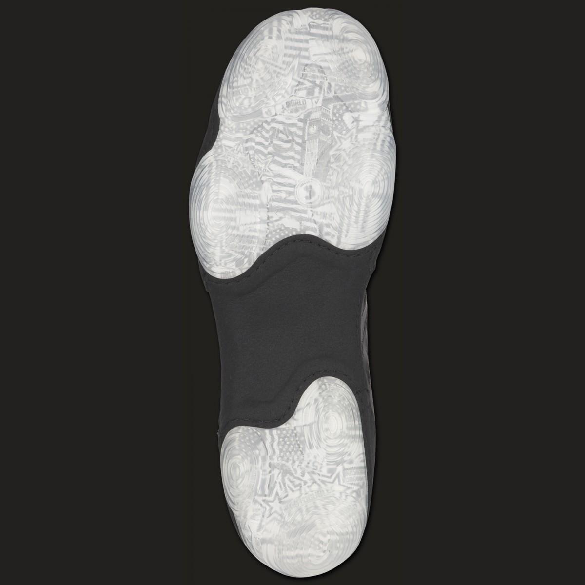 afd1695f579 ASICS JB Elite III boxing and wrestling shoe Black white
