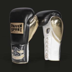 PRO MEXICAN Boxhandschuhe für den Wettkampf 10UZ Schwarz/gold